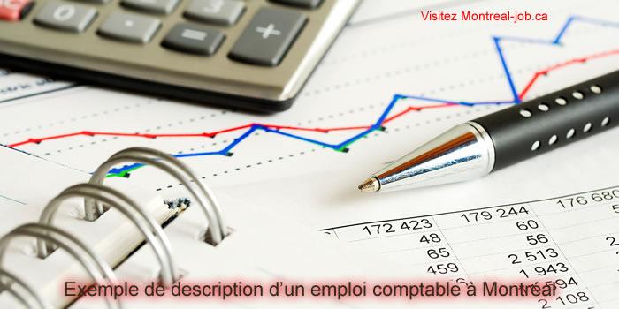 Exemple de description d'un emploi comptable à montréal