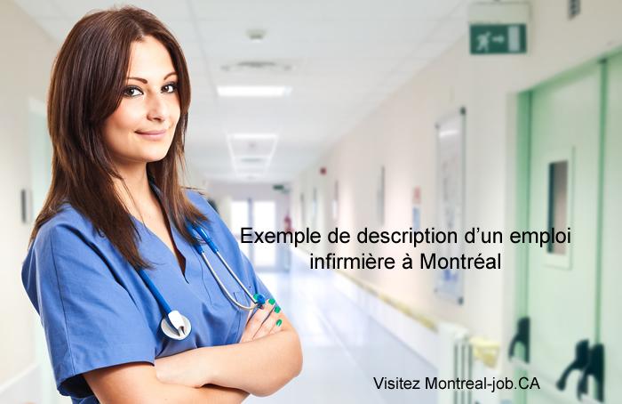 Exemple de description d'un emploi infirmière à montréal