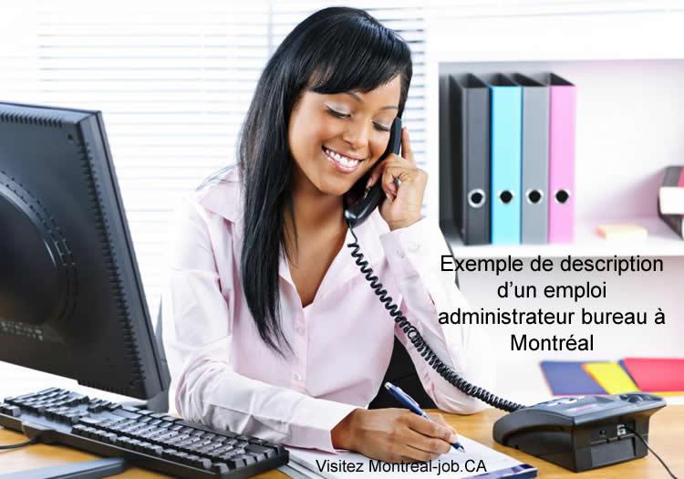 Exemple de description d'une offre d'emploi administrateur bureau