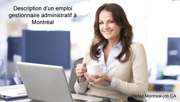 Description du poste de gestionnaire administratif